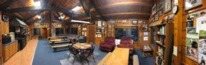interior panorama photo of veazie salmon club headquarters