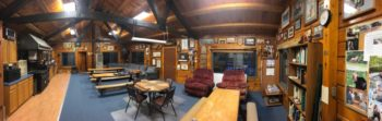 interior panorama photo of veazie salmon club headquarters